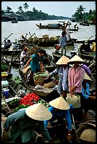 Phung Hiep floating market. Can Tho, Vietnam ( color)