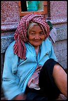 Elderly woman. Chau Doc, Vietnam ( color)