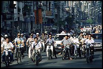 Traffic: there are 2 million motorcycles and the number of cars is growing everyday. Ho Chi Minh City, Vietnam ( color)