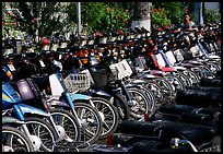 With that many motorcycles, valet parking is necessary. Ho Chi Minh City, Vietnam (color)