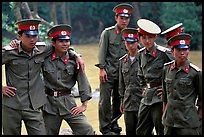 Soldiers performing a long  military service. Mekong Delta, Vietnam ( color)