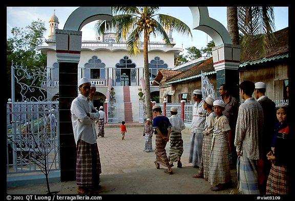 Mosque in Cham minority village. Chau Doc, Vietnam (color)