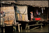 Housing at the edge of the canal, Phung Hiep. Can Tho, Vietnam ( color)