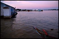Floating houses. They double as fish reservoirs. Chau Doc, Vietnam ( color)