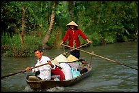 Back from the market on a canal near Phung Hiep. Can Tho, Vietnam ( color)