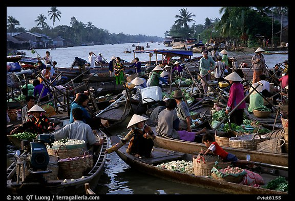 Floating market at Phung Hiep. Can Tho, Vietnam (color)