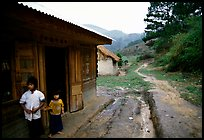 A minority village in the mountains. Da Lat, Vietnam ( color)