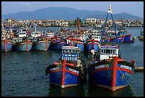 Colorfull fishing boats, Nha Trang. Vietnam ( color)