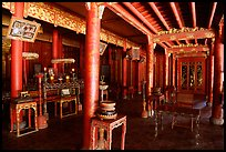 Inside the shrine of Minh Mang mausoleum. Hue, Vietnam (color)