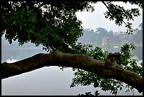 Hoan Kiem (restored sword) lake. Hanoi, Vietnam (color)