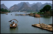 The canal of Ken Ga. Ninh Binh,  Vietnam (color)