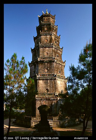 Thien Mu Pagoda. Hue, Vietnam (color)