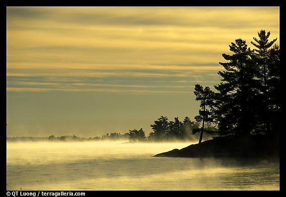Fog at sunrise, Voyageurs National Park.